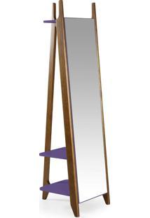 Espelho Stoka 169,5 Cm 988 Nogal/Roxo - Maxima