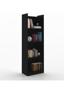 Estante Para Livros 4 Prateleiras 600053 Preto - Vedere