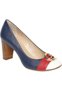 b287ce7007 ... Sapato Tradicional Em Couro Com Tag   Tira- Azul Marinhojorge Bischoff