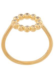 Astley Clarke Anel Stilla Arc De Prata Banhada A Ouro Com Safira - Dourado