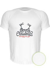 Camiseta Manga Curta Nerderia Natal 2 Branco