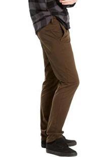 Calça Levi'S Chino Slim Hybrid Trouser Masculina - Masculino-Marrom