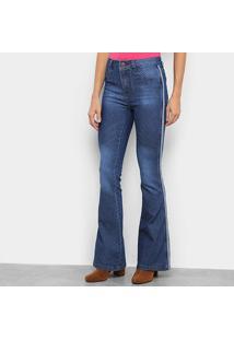 Calça Jeans Flare Viés Lateral Feminina - Feminino