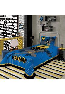Jogo De Cama Infantil Solteiro Lepper Batman 3 Peças Azul