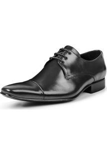 Sapato Social Bigioni De Amarrar Italy Masculino - Masculino-Preto