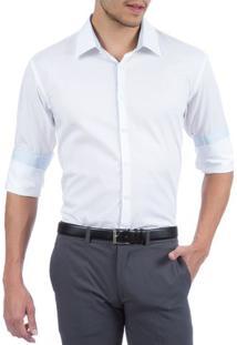 Camisa Social Masculina Upper Branca Lisa