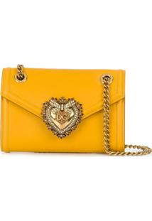 Dolce & Gabbana Bolsa Devotion Mini - Amarelo