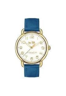Relógio Coach Feminino Couro Azul - 14502718