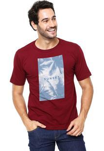 Camiseta Rgx Sunset Blue Bordô