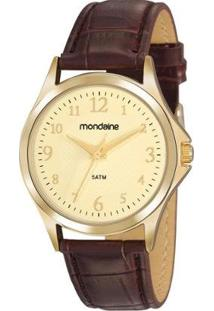 Relógio Analógico Mondaine - 83474Lpmvdh2 Feminino - Feminino-Dourado+Marrom
