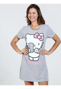 Camisola Feminina Strass Estampa Hello Kitty