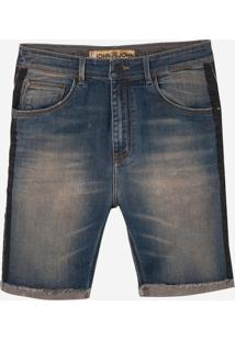 Bermuda John John Rock Panama 3D Jeans Azul Masculina (Jeans Medio, 44)
