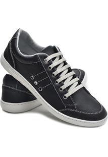 Sapatênis Dec Shoes Com Cadarço Masculino - Masculino-Cinza+Preto