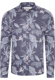 Camisa Masculina Abrico - Cinza
