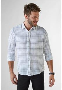Camisa Ml Ft Vale Da Lua Reserva Masculina - Masculino-Branco