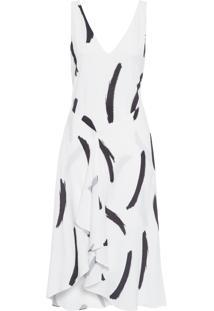 Vestido Midi Pincel - Branco