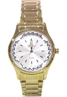 e6c698a785c Zattini. Relógio Kit Feminino Unissex Branco Dourado Inox Vidro ...