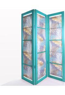 Biombo De Madeira Em Tecido Dominoes Stain Azul T07 - 150X3,5X179 Cm