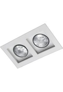 Spot Embutir Flat2 Lâmpadas E27 Branco Attena
