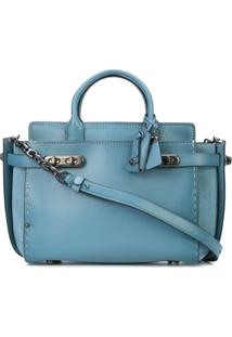 Coach Double Swagger Tote - Azul