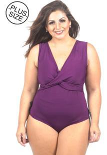 Body Inovare Modas Regata Vinho Plus Size