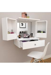 Penteadeira Camarim Vanity Com 2 Portas, Espelho E Gaveta Bliv - Branco