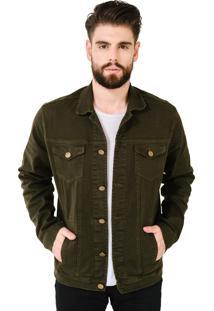 Jaqueta Jeans Aero Jeans Verde Militar