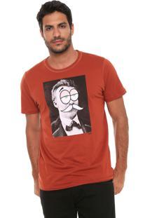 Camiseta Colcci Estampada Caramelo