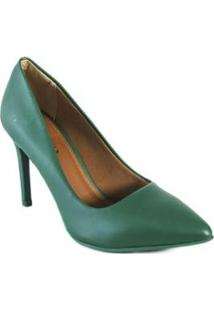 Scarpin Renata Mello Elegante Feminino - Feminino-Verde