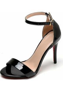 Sandália Salto Fino Bellatrix Preta