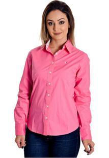 86e0b85adf Camisa Goti Manga Longa feminina. Camisa Pimenta Rosada Mayná - Feminino- Rosa+Branco