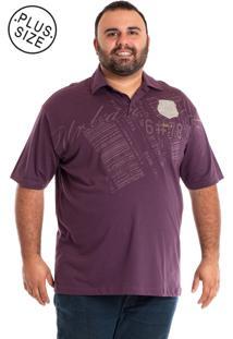 Camisa Polo Konciny Plus Size Lilás