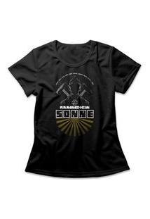 Camiseta Feminina Rammstein Sonne Preto
