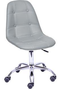 Cadeira Eames Botonãª- Cinza & Prateada- 93X47X41Cm