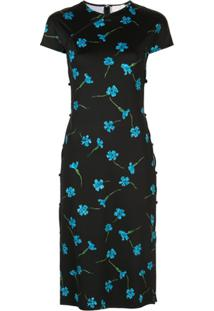Marcia Vestido Floral Tchikiboum - Preto