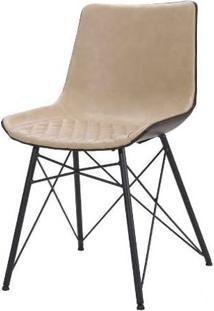 Cadeira Ayla Courino Nude Base Preto 83Cm - 62852 - Sun House
