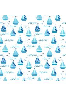 Papel De Parede Quartinhos Adesivo Infantil Barquinhos 2,70X0,57M