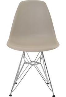 Cadeira Eames Eiffel Rivatti Sem Braço Pp Base Cromada Nude