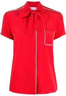 Redvalentino Pussybow Collar Blouse - Vermelho