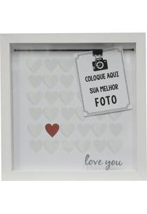 "Painel Fotográfico ""Love You""- Branco & Vermelho- 22Kapos"