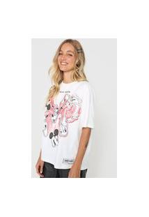 Camiseta Colcci Mickey Branca