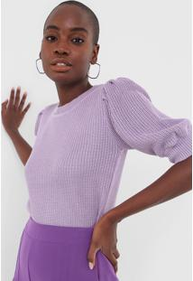 Blusa Tricot Maria Filã³ Lisa Lilã¡S - Lilã¡S - Feminino - AcrãLico - Dafiti