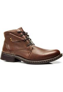Bota Country Capelli Boots Em Couro Solado Bloqueado Masculino - Masculino-Marrom