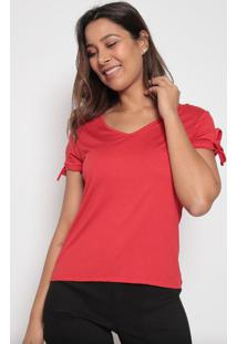 Blusa Lisa Com Amarraã§Ãµes - Vermelha - Arsenalarsenal