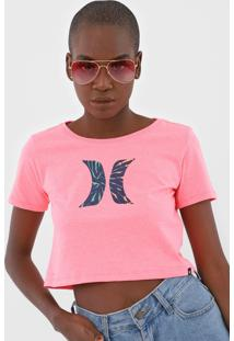 Blusa Cropped Hurley Icon Tie Dye Rosa