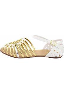 Sandália Sedução Feminina - Feminino-Prata+Dourado