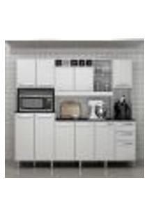 Cozinha Compacta Petra 11 Pt 2 Gv Branco Brilho