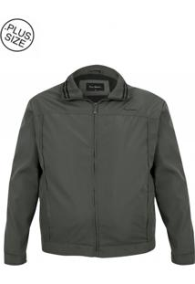Jaqueta Plus Size Premium Chumbo