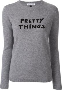 Bella Freud Suéter Com Slogan 'Pretty Things' - Cinza