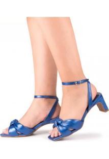 Sandália Pitteli Metalizada Azul